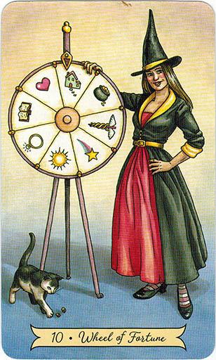 Ý nghĩa lá 10. Wheel of Fortune trong bộ bài Everyday Witch Tarot
