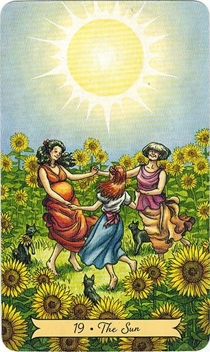 Ý nghĩa lá 19. The Sun trong bộ bài Everyday Witch Tarot