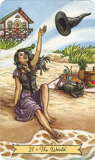 Lá 21. The World - Everyday Witch Tarot 1