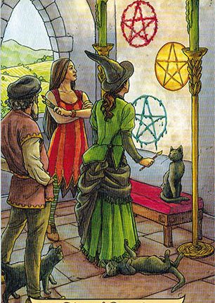 Lá Three of Pentacles – Everyday Witch Tarot