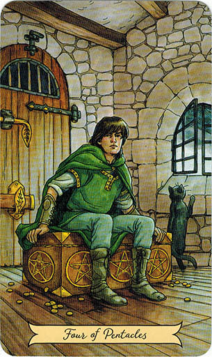 Lá Four of Pentacles - Everyday Witch Tarot 1