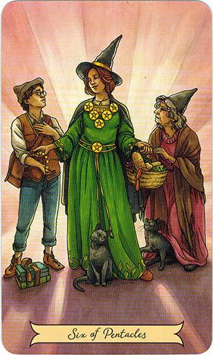 Ý Nghĩa Lá Six Of Pentacles Trong Bộ Bài Everyday Witch Tarot