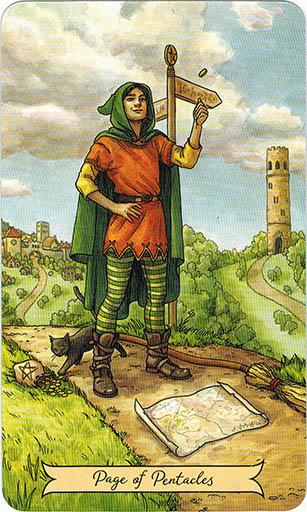 Ý nghĩa lá Page of Pentacles trong bộ bài Everyday Witch Tarot