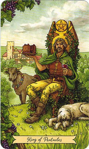 Ý nghĩa lá King of Pentacles trong bộ bài Everyday Witch Tarot