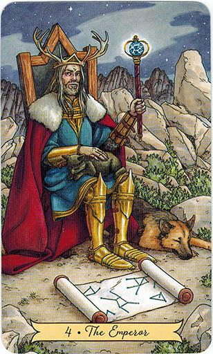 Ý nghĩa lá 4. The Emperor trong bộ bài Everyday Witch Tarot