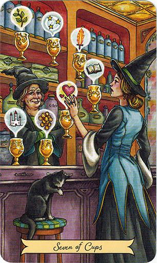 Ý nghĩa lá Seven of Cups trong bộ bài Everyday Witch Tarot