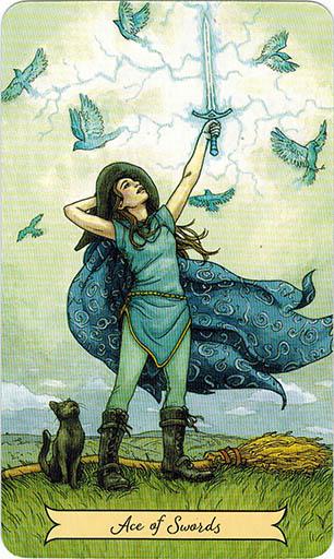 Ý nghĩa lá Ace of Swords trong bộ bài Everyday Witch Tarot