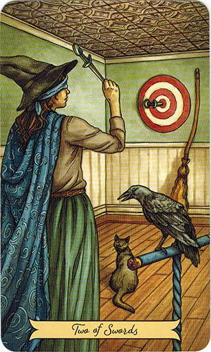 Ý nghĩa lá Two of Swords trong bộ bài Everyday Witch Tarot