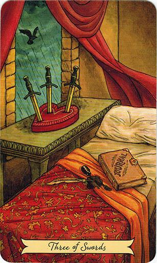 Ý nghĩa lá Three of Swords trong bộ bài Everyday Witch Tarot