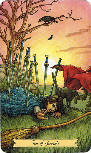 Y nghĩa lá Ten of Swords trong bộ bài Everyday Witch Tarot