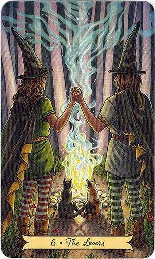 Ý nghĩa lá 6. The Lovers trong bộ bài Everyday Witch Tarot