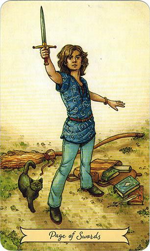 Ý nghĩa lá Page of Swords trong bộ bài Everyday Witch Tarot