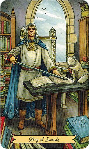 Ý nghãi lá King of Swords trong bộ bài Everyday Witch Tarot