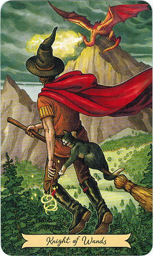 Ý nghĩa lá Knight of Wands trong bộ bài Everyday Witch Tarot