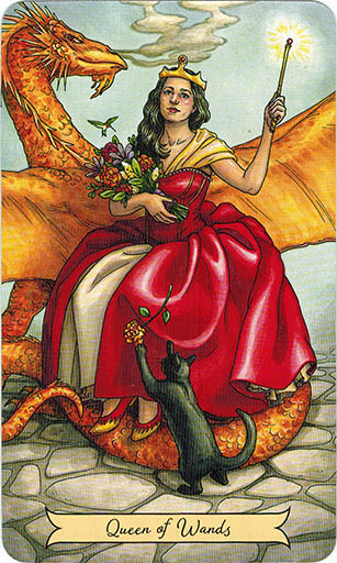 Ý nghĩa lá Queen of Wands trong bộ bài Everyday Witch Tarot