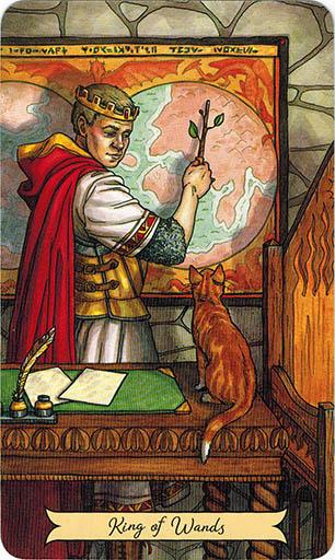 Ý nghĩa lá King of Wands trong bộ bài Everyday Witch Tarot