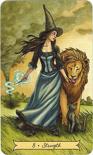 Ý nghĩa lá 8. Strength trong bộ bài Everyday Witch Tarot
