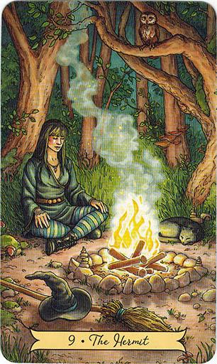 Ý nghĩa lá 9. The Hermit trong bộ bài Everyday Witch Tarot