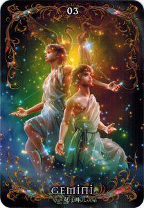Lá 03. Gemini – Astrology Oracle Cards 1