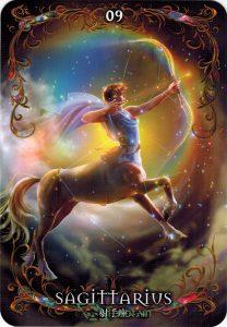 Lá 09. Sagattarius – Astrology Oracle Cards 1