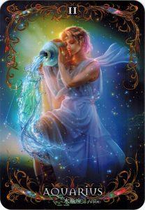 Lá 11. Aquarius – Astrology Oracle Cards 1