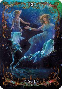 Lá 12. Pisces – Astrology Oracle Cards 1