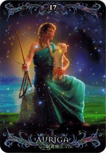 Lá 17. Auriga – Astrology Oracle Cards 1