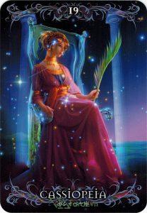 Lá 19. Cassiopeia – Astrology Oracle Cards 1