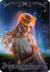 Lá 26. Corona Borealis – Astrology Oracle Cards 1