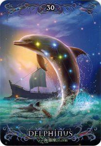 Lá 30. Delphinus – Astrology Oracle Cards 1