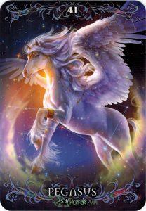 Lá 41. Pegasus – Astrology Oracle Cards 1