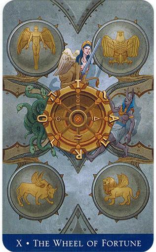 Ý nghĩa lá Wheel of Fortune trong bộ bài Llewellyn's Classic Tarot