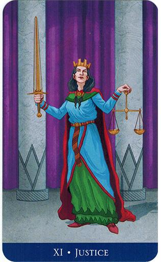 Ý nghĩa lá Justice trong bộ bài Llewellyn's Classic Tarot