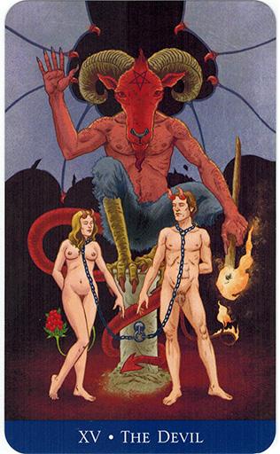Lá The Devil - Llewellyn's Classic Tarot 1
