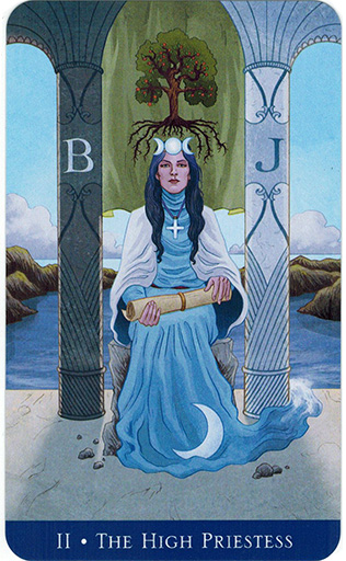Lá The High Priestess - Llewellyn's Classic Tarot 1