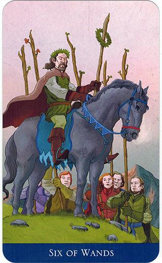 Ý nghĩa lá Six of Wands trong bộ bài Llewellyn's Classic Tarot