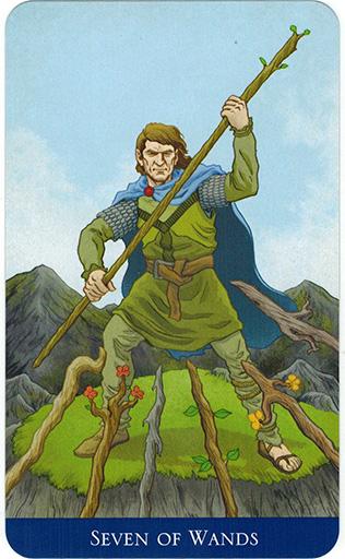 Ý nghĩa lá Seven of Wands trong bộ bài Llewellyn's Classic Tarot