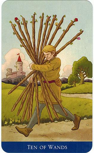 Ý nghĩa lá Ten of Wands trong bộ bài Llewellyn's Classic Tarot