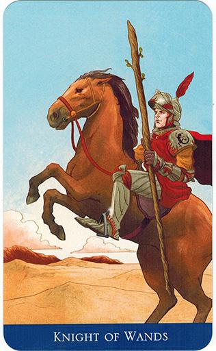 Ý nghĩa lá Knight of Wands trong bộ bài Llewellyn's Classic Tarot
