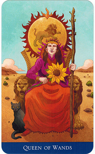 Ý nghĩa lá Queen of Wands trong bộ bài Llewellyn's Classic Tarot