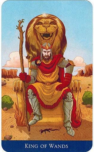 Ý nghĩa lá King of Wands trong bộ bài Llewellyn's Classic Tarot