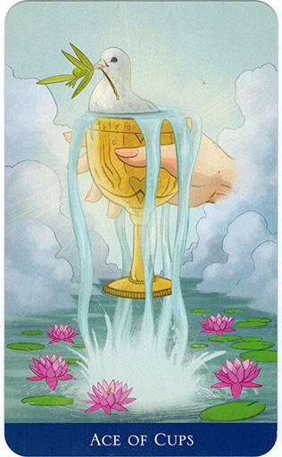 Ý nghĩa lá Ace of Cups trong bộ bài Llewellyn's Classic Tarot