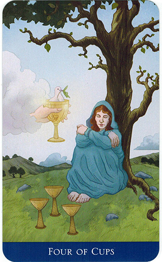 Ý nghĩa lá Four of Cups trong bộ bài Llewellyn's Classic Tarot