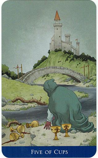Ý nghĩa lá Five of Cups trong bộ bài Llewellyn's Classic Tarot