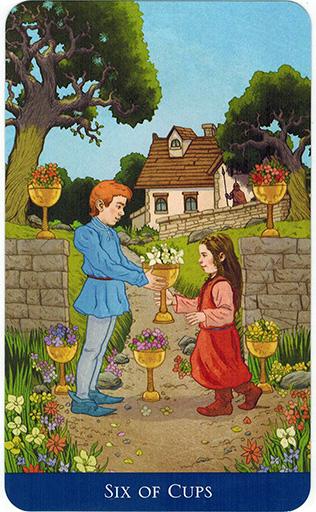 Ý nghĩa lá Six of Cups trong bộ bài Llewellyn's Classic Tarot