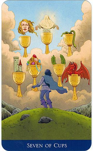 Ý nghĩa lá Seven of Cups trong bộ bài Llewellyn's Classic Tarot