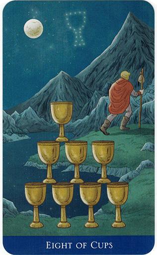 Ý nghĩa lá Eight of Cups trong bộ bài Llewellyn's Classic Tarot
