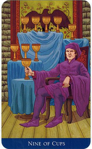 Ý nghĩa lá Nine of Cups trong bộ bài Llewellyn's Classic Tarot