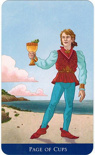 Ý nghĩa lá Page of Cups trong bộ bài Llewellyn's Classic Tarot
