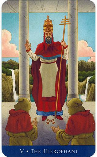 Ý nghĩa lá The Hierophant trong bộ bài Llewellyn's Classic Tarot